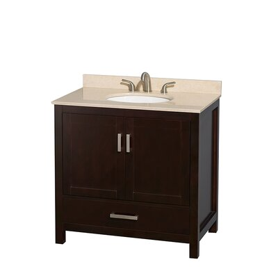 Sheffield 36 Single Bathroom Vanity Set Base Finish: Gray, Top Finish: Ivory