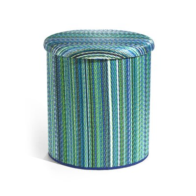 Nahant Storage Ottoman Upholstery: Turquoise/Moss Green