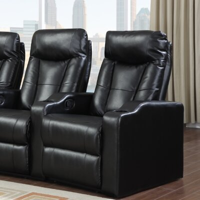 Eugenia Home Theater Left Facing Recliner Upholstery: Black