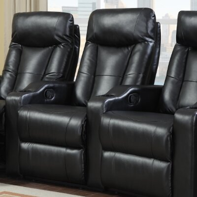 Eugenia Home Theater Recliner Upholstery: Black