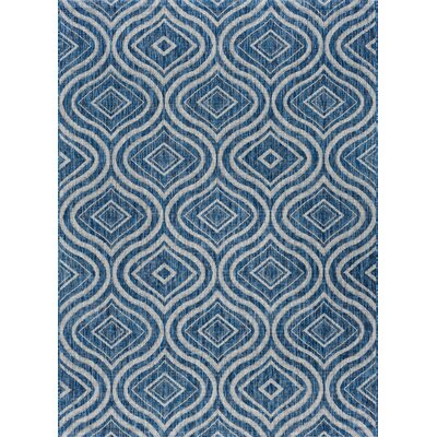 Weber Contemporary Indigo Indoor/Outdoor Area Rug Rug Size: 710 x 103