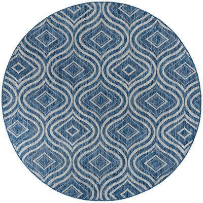 Weber Contemporary Indigo Indoor/Outdoor Area Rug Rug Size: Round 710
