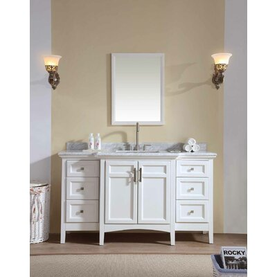 Lebanon 60 Single Bathroom Vanity Set Base Finish: White
