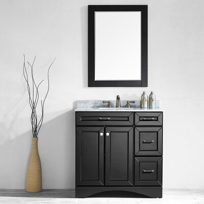 Pembroke 36 Single Vanity Set with Mirror Base Finish: Espresso