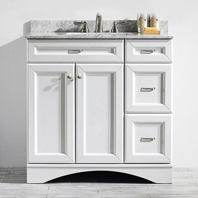 Pembroke 36 Single Vanity Set Base Finish: White