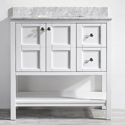 Peabody 36 Single Vanity Set Base Finish: White