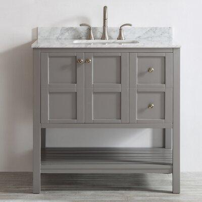 Peabody 36 Single Vanity Set Base Finish: Gray