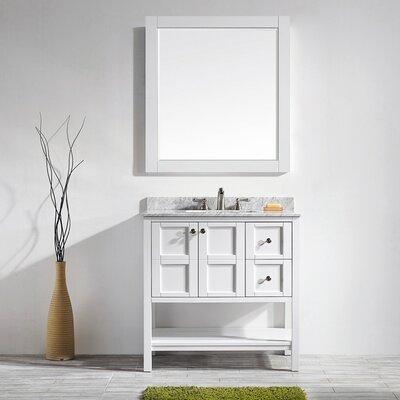 Peabody 36 Single Vanity Set with Mirror Base Finish: White