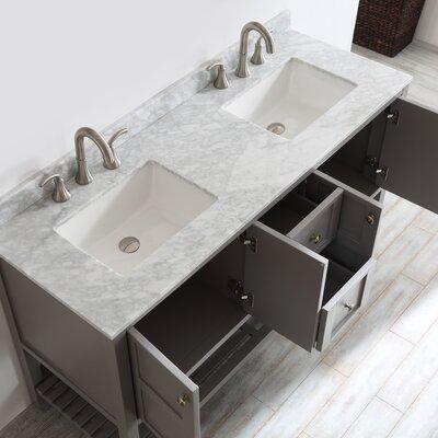 Peabody 60 Double Bathroom Vanity Set Base Finish: Grey