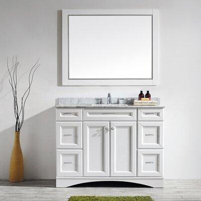 Pembroke 48 Single Vanity Set with Mirror Base Finish: White