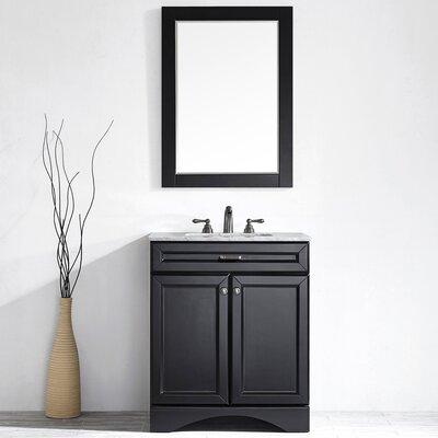 Pembroke 30 Single Vanity Set with Mirror Base Finish: Espresso