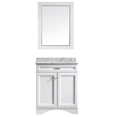 Pembroke 30 Single Vanity Set with Mirror Base Finish: White