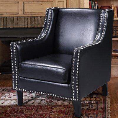 Pepperell Armchair Upholstery: Black