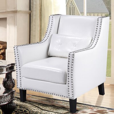 Pepperell Armchair Upholstery: White