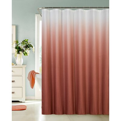 Kobayashi Spa Bath Shower Curtain Color: Brick