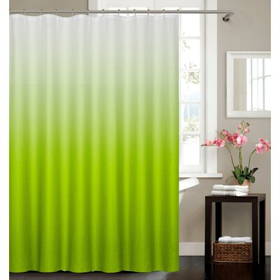 Petersham Spa Bath Shower Curtain Color: Green