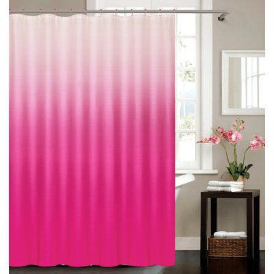 Kobayashi Spa Bath Shower Curtain Color: Pink