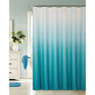 Petersham Spa Bath Shower Curtain Color: Aqua