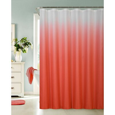 Petersham Spa Bath Shower Curtain Color: Red