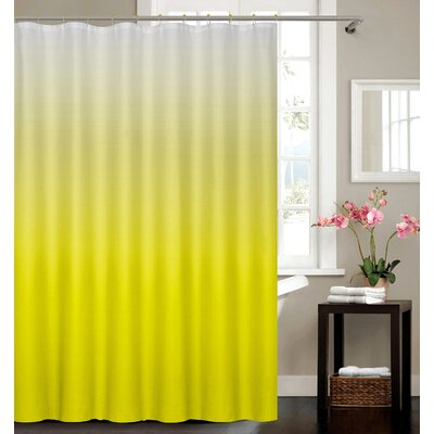 Kobayashi Spa Bath Shower Curtain Color: Yellow
