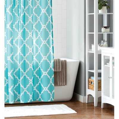 Winard Microfiber Shower Curtain Color: Aqua, Size: 84 H x 72 W