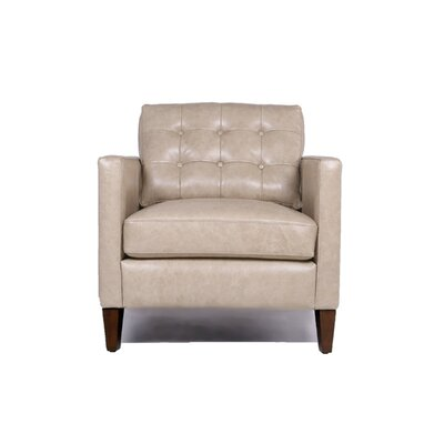 Rockport Leather Arm Chair Color: Mutual Sand