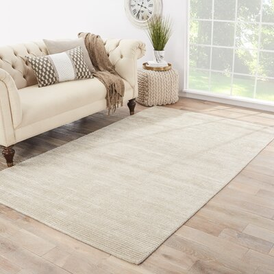Nico Alabaster Solid Area Rug Rug Size: Rectangle 8 x 10