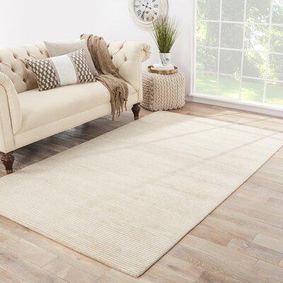 Nico Hand Loomed Sand Dollar/Smoke Gray Indoor Area Rug Rug Size: 5 x 8