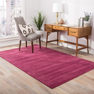 Nico Wool and Art Silk Solids/Handloom Pink Area Rug Rug Size: 9 x 12