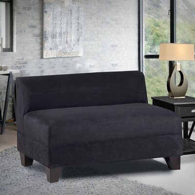 Woodhouse Armless Loveseat Upholstery: Montana Midnight