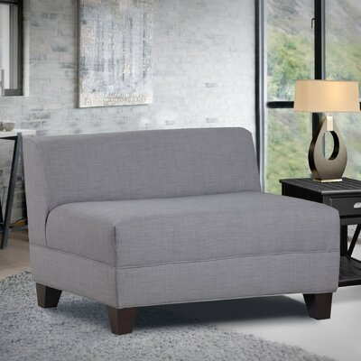 Woodhouse Armless Loveseat Upholstery: Ash