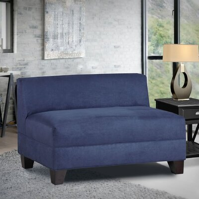 Bond Armless Loveseat Upholstery: Montana Navy