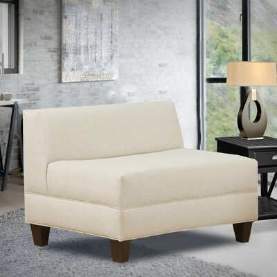 Bond Armless Loveseat Upholstery: Natural