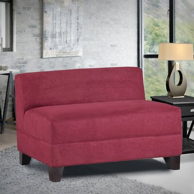 Woodhouse Armless Loveseat Upholstery: Montana Crimson
