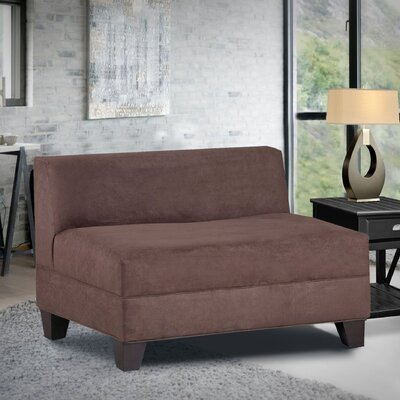 Bond Armless Loveseat Upholstery: Montana Chocolate