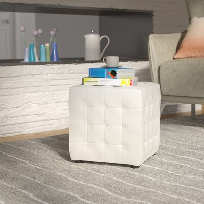 Richlands Cube Ottoman Upholstery: White