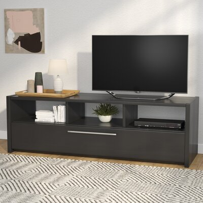 Isla Black TV Stand with Open Storage