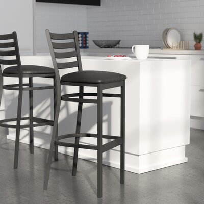 Diana 29 Bar Stool Upholstery: Black Vinyl