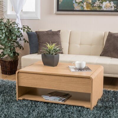 Lift Top Storage Coffee Table Color: Oak