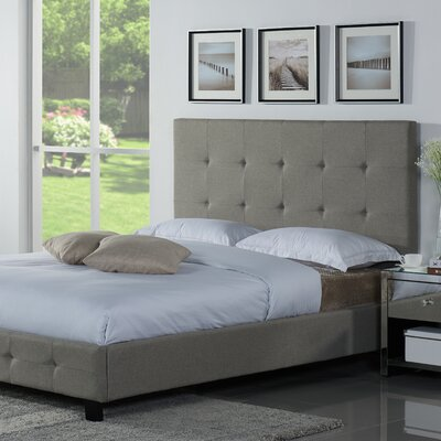 Tiara Upholstered Platform Bed Size: King, Color: Sand Stone