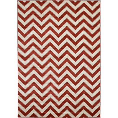 Erik Rust Red Area Rug Rug Size: 7 x 10