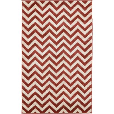 Erik Rust Red Area Rug Rug Size: 33 x 53