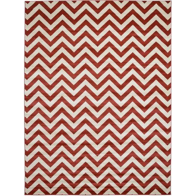 Erik Rust Red Area Rug Rug Size: 9 x 12