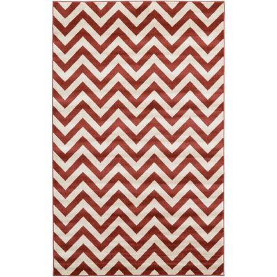 Erik Rust Red Area Rug Rug Size: 5 x 8