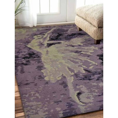 Tamera Hand-Knotted Purple Area Rug Rug Size: Rectangle 5 x 8