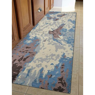Tamera Hand-Knotted Beige Area Rug Rug Size: Runner 26 x 10