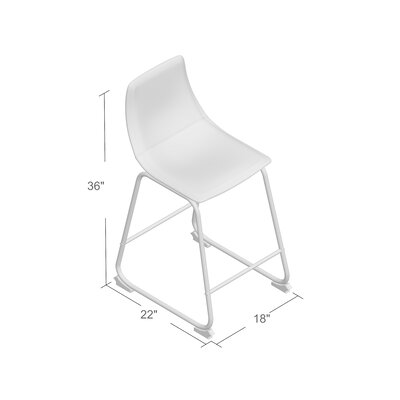 Mary-Kate 26 Bar Stool Color: Gray, Upholstery: Black