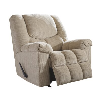 Trigg Manual Rocker Recliner Upholstery: Putty