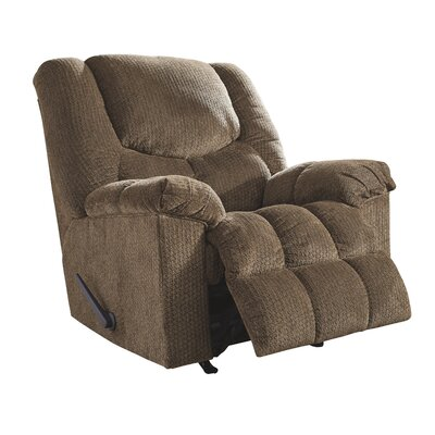 Trigg Manual Rocker Recliner Upholstery: Brownstone