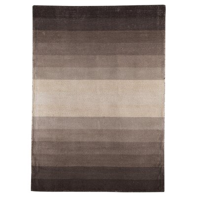 Hendricks Hand-Loomed Beige/Brown Area Rug Rug Size: 8 x 10